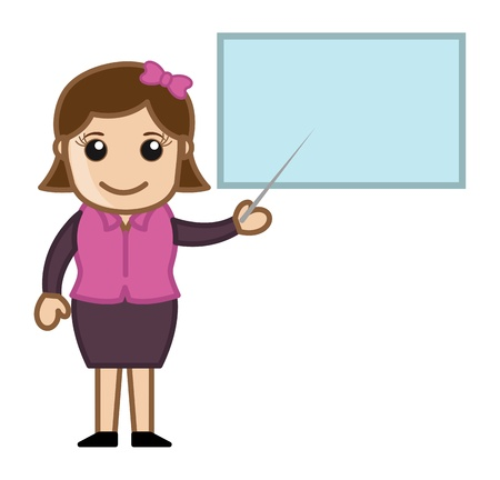 Instructor - Cartoon Business Vector Illustrations Vector
