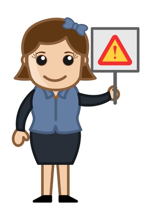 Error Sign - Cartoon Business Vector Illustrations Stock Vector - 22061359
