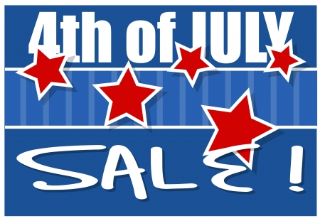 4th of July Sale Background Vector Stock Vector - 22061083