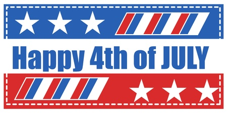happy 4th of july background vector Stock Vector - 22061070