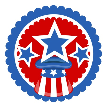 uncle sam hat for 4th of july celebration Vector