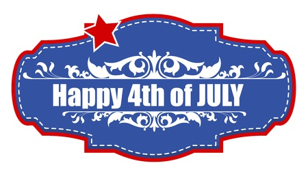 happy 4th of july sticker Stock Vector - 22061051