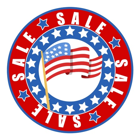 independence day: Sale on independence day vector seal badge
