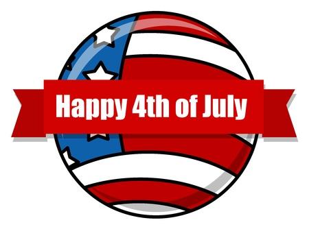happy 4th of july design icon Stock Vector - 22060276