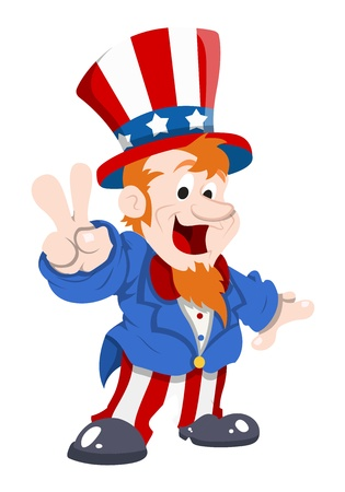 point i: happy and cute uncle sam Illustration
