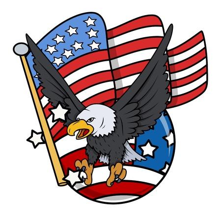 patriotic eagle: eagle and US Flag - celebration patriotic design