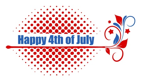 happy 4th of july text design Stock Vector - 22060256