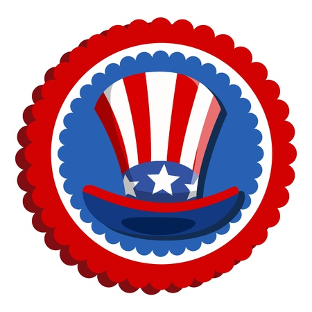 sam: 4th of july - uncle sam hat badge