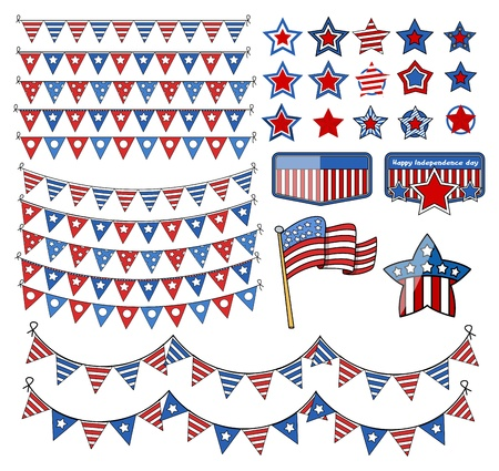 design elements - 4th of july vector illustration Stock Vector - 22060246
