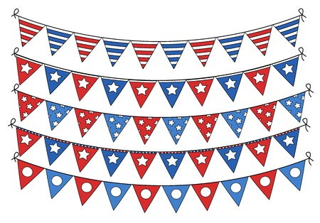 4th of july flag banners vector Stock Vector - 22060241