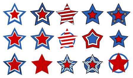 stars vectors for - 4th of july vector illustration Stock Vector - 22060239