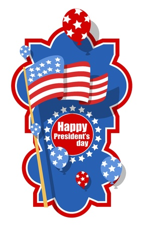 American Happy presidents day vector Stock Vector - 22060236
