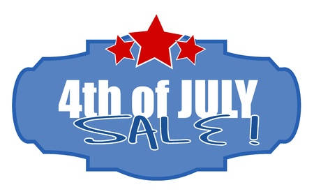 liberty celebration sale - 4th of july vector illustration Stock Vector - 22060235