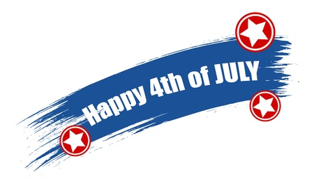 happy 4th of july text Stock Vector - 22060233
