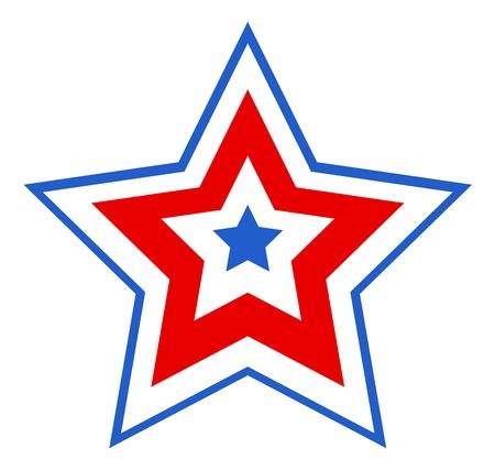 patriotic star design Illustration