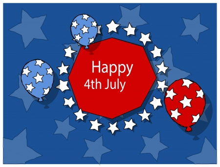 Freedom - 4th of july vector illustration Vector
