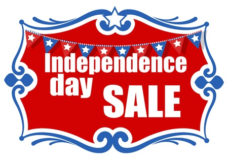 greeting and sale banner - 4th of july vector illustration Illustration