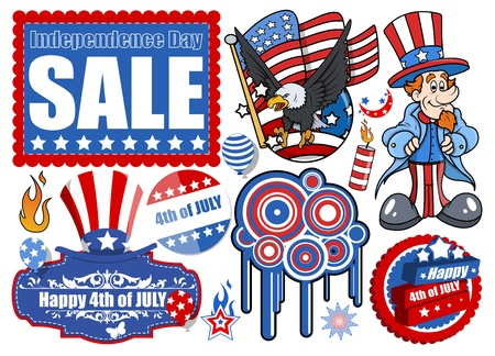 4th of July - Vector Designs Set Vector
