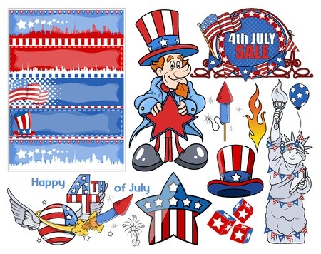 i want you: Happy independence day - Vector Designs Set