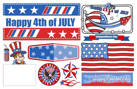 4th of July Celebration - Vector Designs Set Vector
