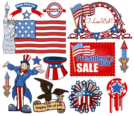 4th of July Vector Designs
