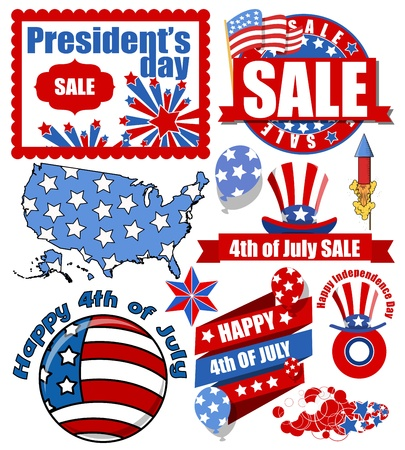 Happy 4th of july vector items Vector