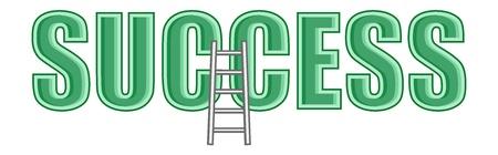 business cartoons: Escalera de �xito - Dibujos animados de negocios Vectores Vectores
