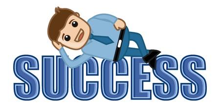 business cartoons: �xito - Vida Ocio - Dibujos animados de negocios Vectores