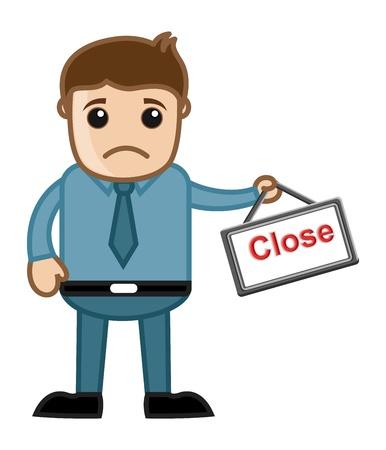 close out: Store Close - Stock Out Concept - Business Cartoons Vectors