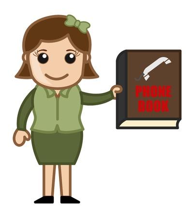business cartoons: Agenda - Dibujos animados de negocios Vectores Vectores