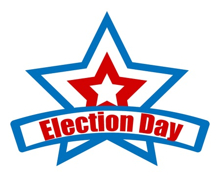 governor: election day star retro banner vector Illustration