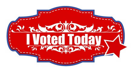 i voted: I voted today - Election Day Vector Illustration Illustration
