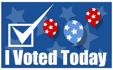 voted: i voted today - Election Day Vector background