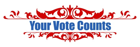 nomination: your vote counts - decorative banner text vector