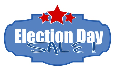 governor: election day sale - Vector Illustration