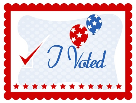 voted: I voted - Election Day Vector Illustration Illustration