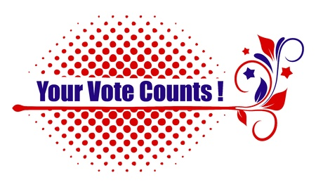 governor: your vote counts design Illustration