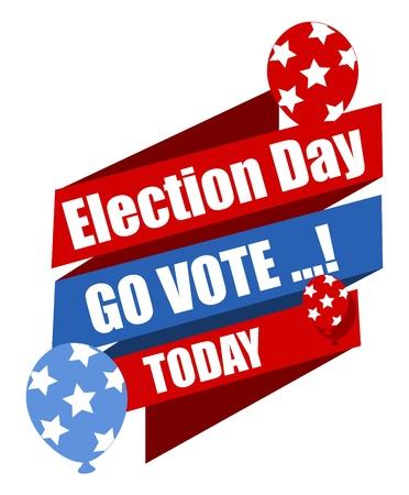 Election Day - Go Vote - Vandaag - Vector Illustratie Stock Illustratie