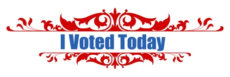 voted: I voted today - design vector