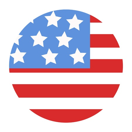 governor: USA Flag design in circle - Vector Illustration