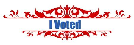 głosowało: I voted -  USA Election Day Vector Illustration
