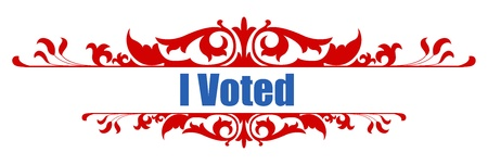 voted: I voted -  USA Election Day Vector Illustration