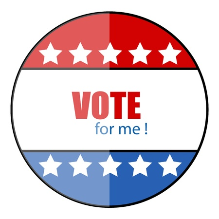 governor: Vote for me - glossy vector badge