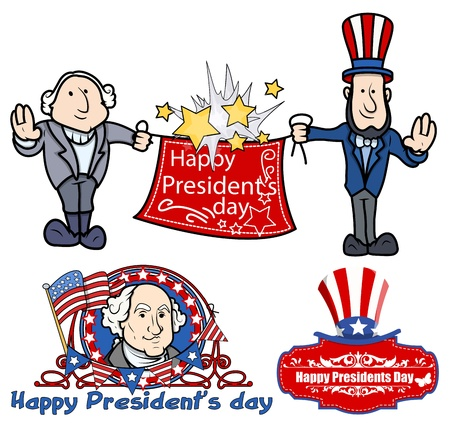 presidents: Presidents Day Celebration Designs Vectors Illustration