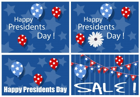 Happy Presidents Day Sale Backgrounds Vector