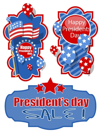 Happy Presidents Day Banners Vector