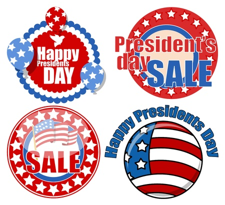 Presidents Day Seal Badges Circular Vector Stock Vector - 22068032