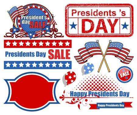 Presidents Day Vector Elements Vector