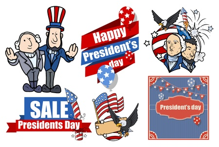 American Presidents Day Vector Set Vector