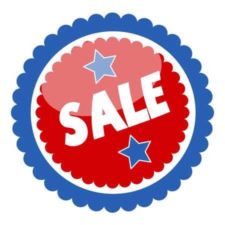 Sale Badge and Sticker for Various USA Nation Theme Holidays - Vector Vector